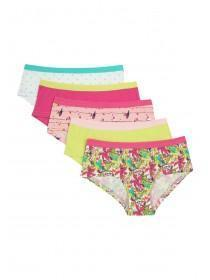 Girls 5pk Pink Briefs