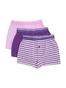 Older Boys 3pk Purple Boxers