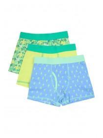 Younger Boys 3pk Green Trunks