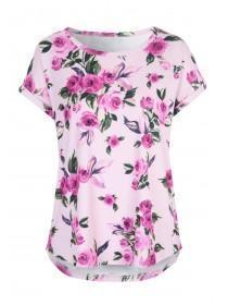 Womens Floral Lounge Top