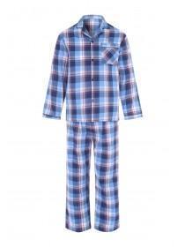 Mens Blue and Red Check Pyjama Set