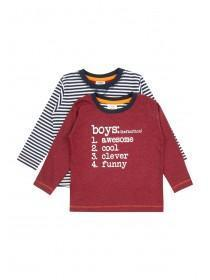 Younger Boys 2PK Long sleeve T-Shirts