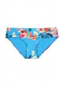 Womens Blue Tropical Print Bikini Briefs