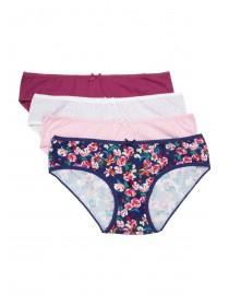 Womens 4pk Pink Mini Briefs