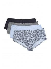 Womens 4pk Blue Shorts