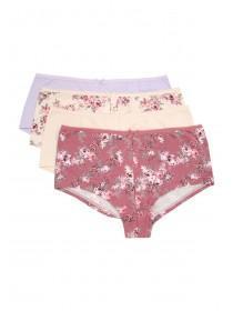 Womens 4pk Floral Shorts