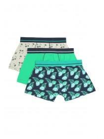 Mens 3pk Green Hipster Boxers
