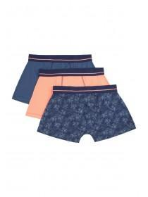 Mens 3pk Blue Hipster Boxers
