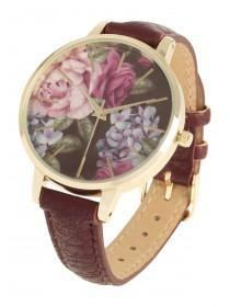 Womens Floral Strap Watch