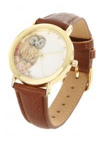 Womens Brown Owl Watch