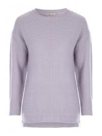 Womens Lilac Zip Side Jumper