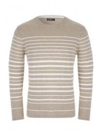 Mens Tan Stripe Jumper