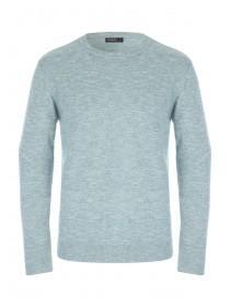 Mens Mint Green Long Sleeve Jumper