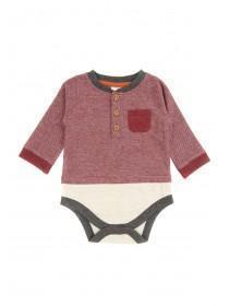 Baby Boys Burgundy Grandad Bodysuit
