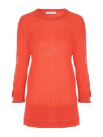 Womens Red Tie Sleeve Jumper