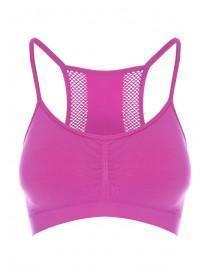 Womens Pink Mesh Back Racer Bra