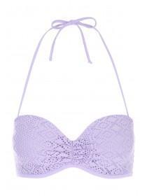 Womens Lilac Crochet Bikini Top