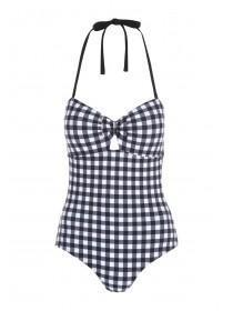 Womens Monochrome Gingham Swimsuit