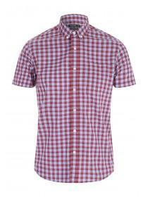 Mens Red Check Shirt
