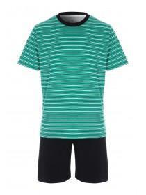 Mens Green Stripe Pyjama Set