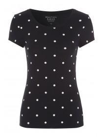 Womens Monochrome Spot T-Shirt