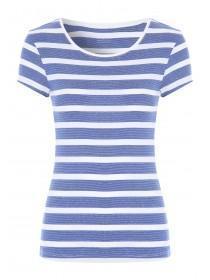 Womens Blue Stripe T-Shirt