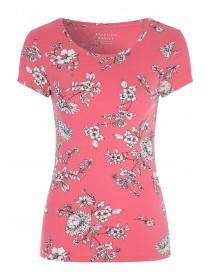 Womens Pink Floral T Shirt