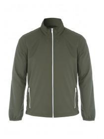 Mens Khaki Zip Front Jacket