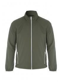 Mens Khaki Zip Front Jacket