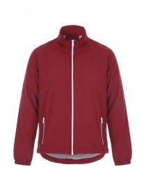 Mens Red Zip Front Jacket