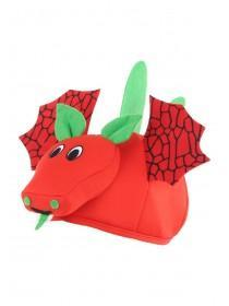 Kids Red and Green Dragon Hat