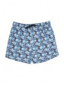 Mens Light Blue Printed Swim Shorts