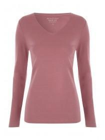 Womens Pink Long Sleeve Top