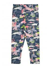 Younger Girls Blue Dinosaur Leggings