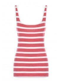 Womens Red Stripe Vest