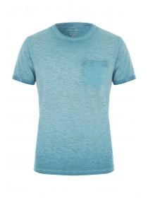 Mens Teal Crew Neck T-Shirt