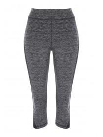 Womens Grey Space Dye Cropped Leggings