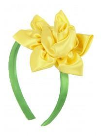 Girls Yellow Daffodil Headband