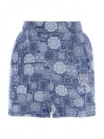Womens Blue Tile Shorts