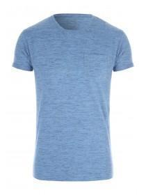 Mens Blue Slim Fit T-Shirt
