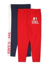 Younger Girls 2pk Sporty Leggings