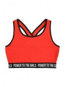 Older Girls Red Slogan Crop Top