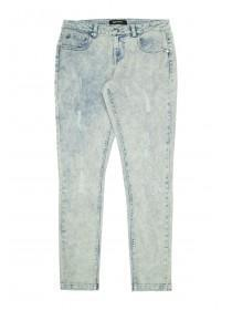 Older Girls Light Blue Rip and Repair Skinny Jeans