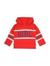 Younger Girls Red Slogan Hoody