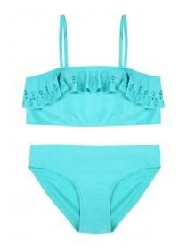 Older Girls Turquoise Laser Cut Bikini