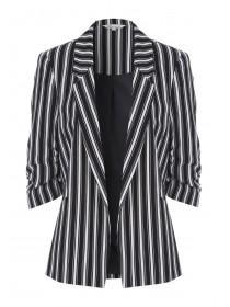 Womens Black Stripe Blazer