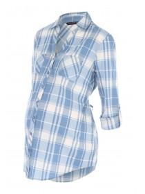 Maternity Blue Check Shirt