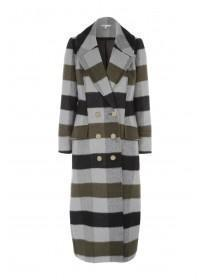 Womens Check Maxi Coat