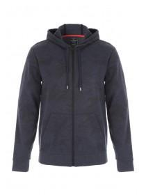Mens Navy Zip Up Hoody