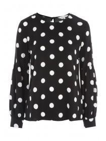 Womens Monochrome Spot Top